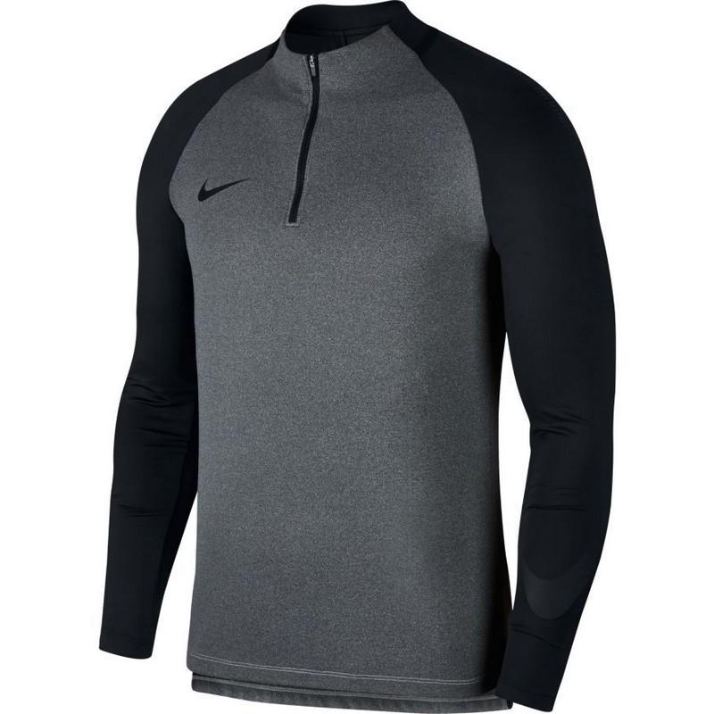 Свитер тренировочный Nike Dry Sqd Dril Top 859197-014 сер/черн. свитера толстовки nike свитер тренировочный nike shld sqd dril top 888123 481