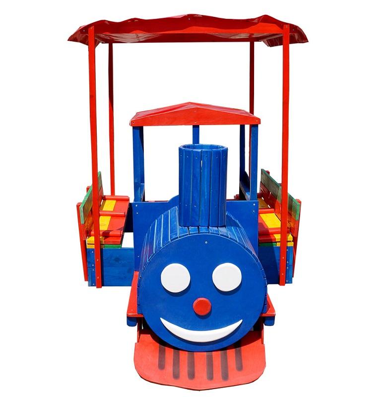 Песочница - паровозик Веселый дворик №18 песочница детская d 130см пластик визан