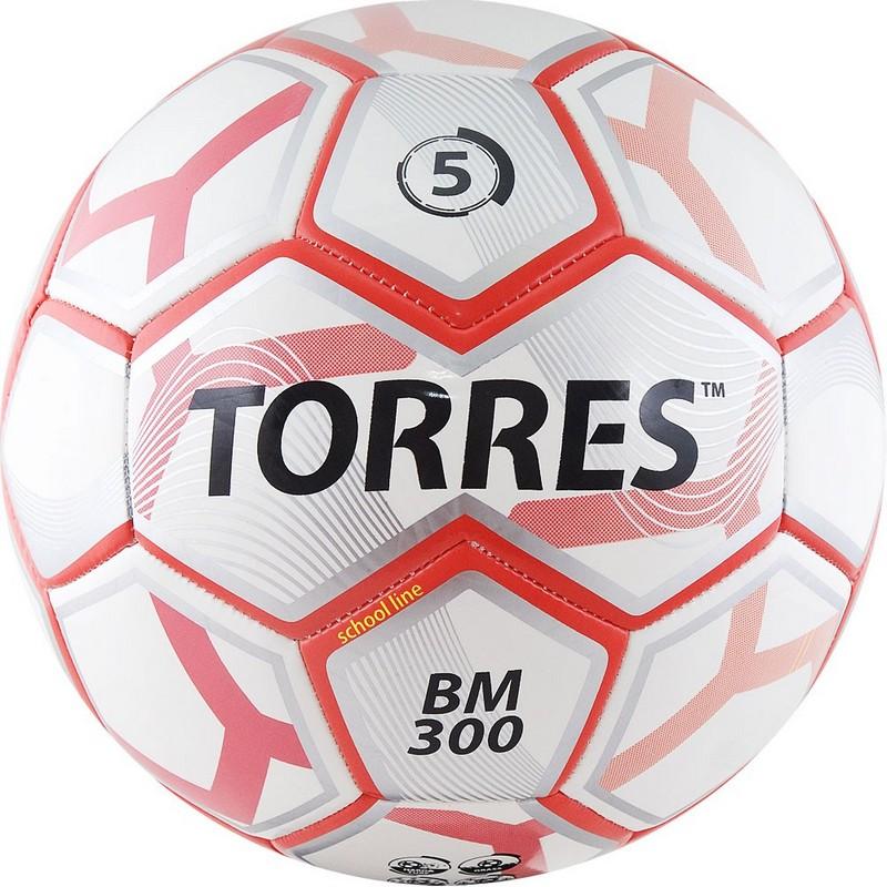 Мяч футбольный Torres BM 300 F30745, р.5, любительский, бело-серебристо-красный фото