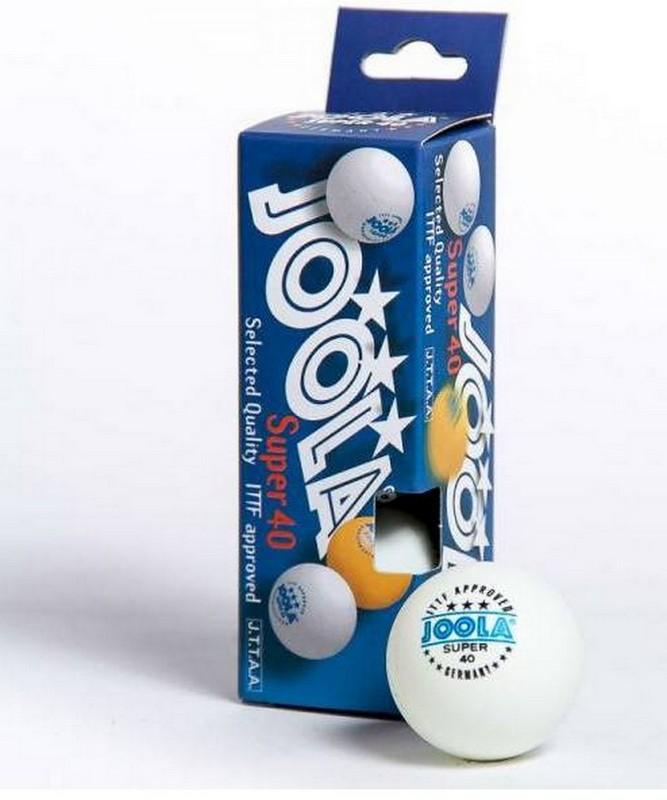 Мячи для настольного тенниса Joola Super *** 3 штуки, белые ITTF 40011
