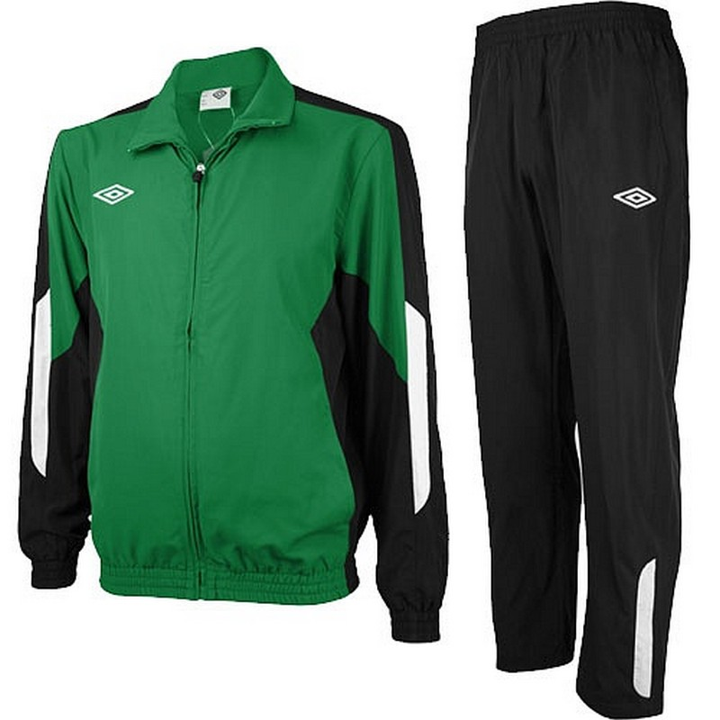 Костюм спортивный Umbro Woven Suit парадный 465013 (461) зел/чёр/бел.
