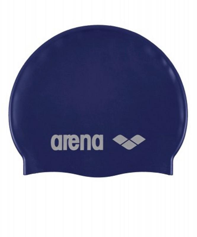 Шапочка для плавания Arena Classic Silicone Cap (91662 71) силикон, denim/silver шапочка для плавания arena classic silicone белый