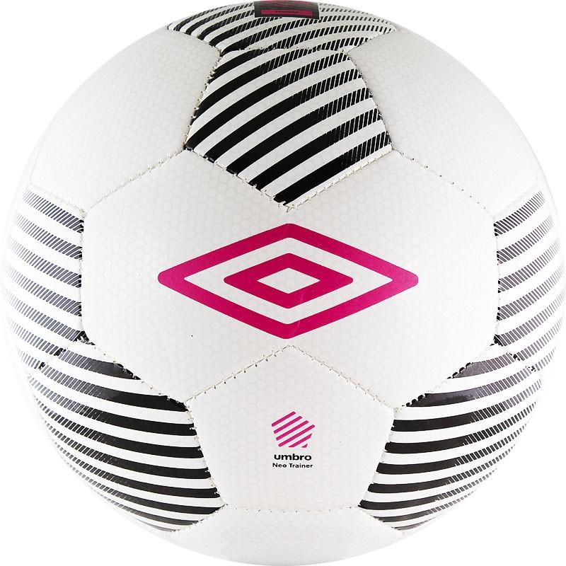 Мяч футбольный р.4 Umbro Neo Trainer 20550U-CWQ бел/чер/роз