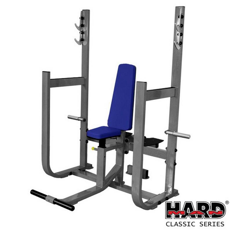 Скамья для вертикального жима штанги (сдвоенные стойки) Hard Man HM-405B гравитрон hard man hm 414s