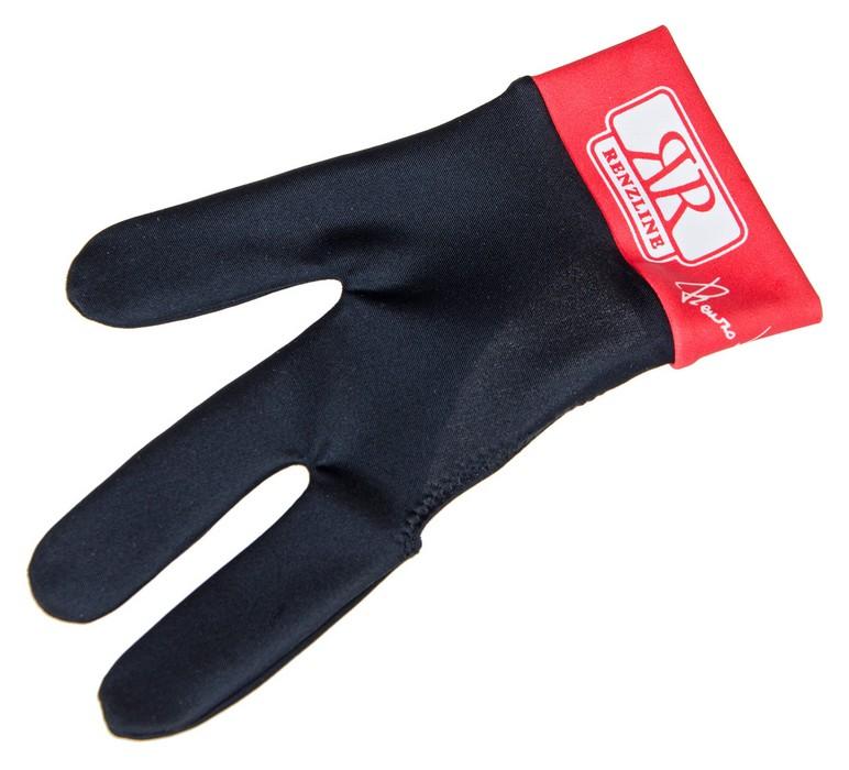 Перчатка бильярдная Longoni Renzline (черно-красная) 45.305.03.3
