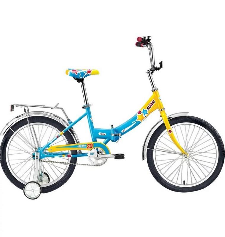 Детский велосипед Altair City Girl 20 Compact желтый-синий велосипед forward altair city girl 20 compact 2015