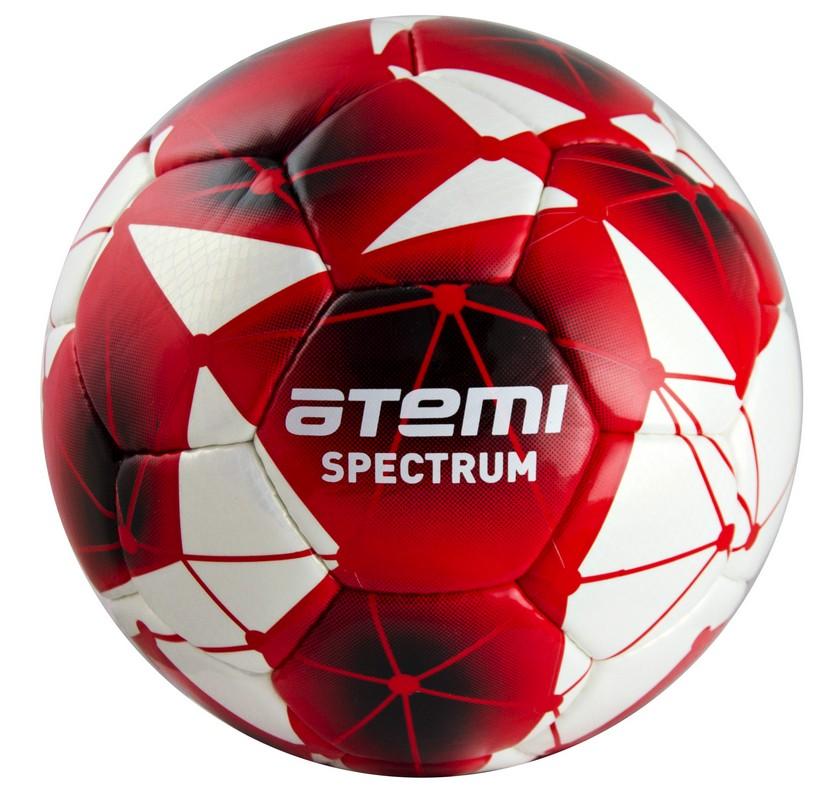 Купить Мяч футбольный Atemi Spectrum р.4 бело-красный,