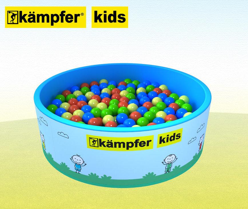 Сухой бассейн Kampfer Kids 100 шаров, голубой