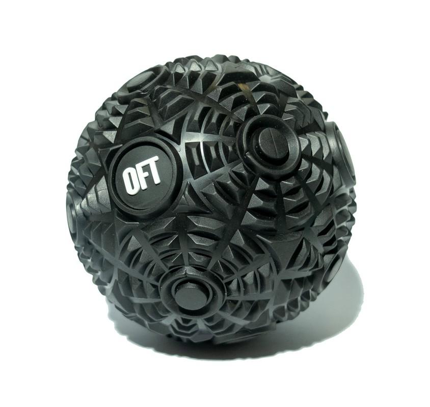 Мяч массажный Original Fit.Tools 12 см Premium FT-CYBERBALL Black фото