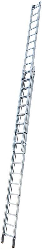 Двухсекционная лестница Krause STABILO 2х18 перекладин, 520-910 см 123428 лестница krause tribilo 121226