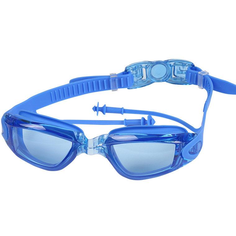 Купить Очки для плавания взрослые B3156 (синие), NoBrand