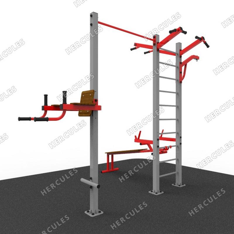 Купить Уличный атлетический комплекс с кронштеном для груши УТ102 Hercules 32791,