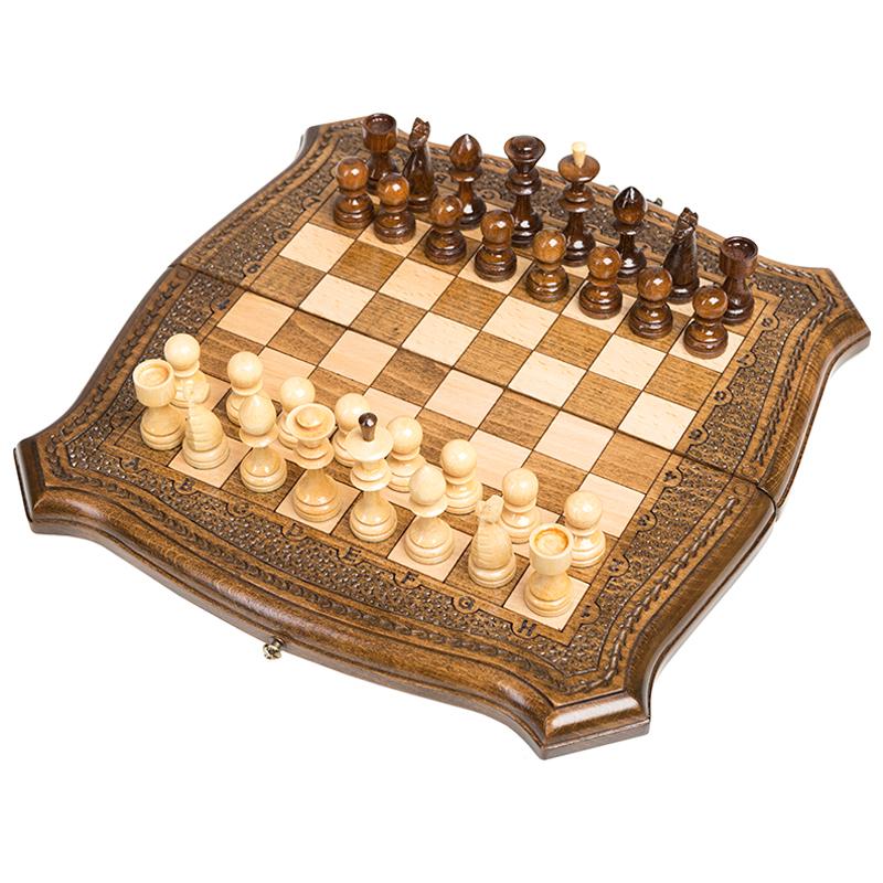 Шахматы + Нарды Ohanyan резные 40