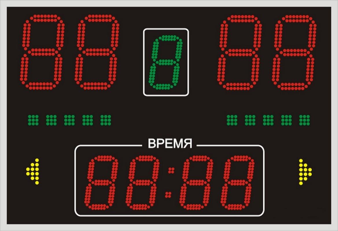 Универсальное табло 950х650х60мм табло для футбола 1500х650х90мм