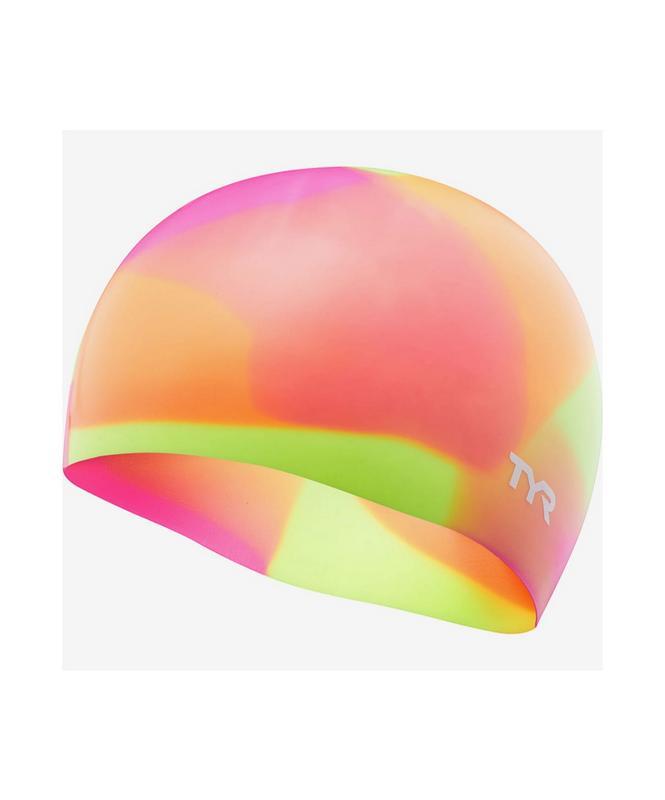 Купить Шапочка для плавания TYR Tie Dye Junior Swim Cap, силикон, LCSJRTD/173, оранжевый,