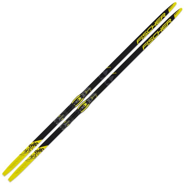 Купить Лыжи беговые Fischer Twin Skin Pro Medium IFP Step (черно/желтый) N23519,