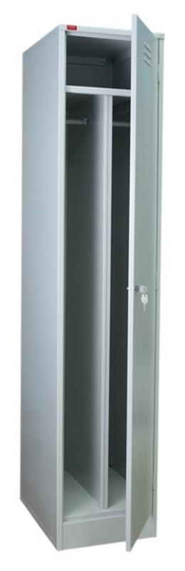 Шкаф металлический разборный 1-секционный с 2 отделениями для одежды СТ-21
