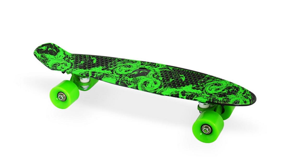 Скейт пластиковый 22х6 quot; Moove Fun PP2206-18 green скейт пластиковый 22х6 quot moove fun pp2206 1 yellow