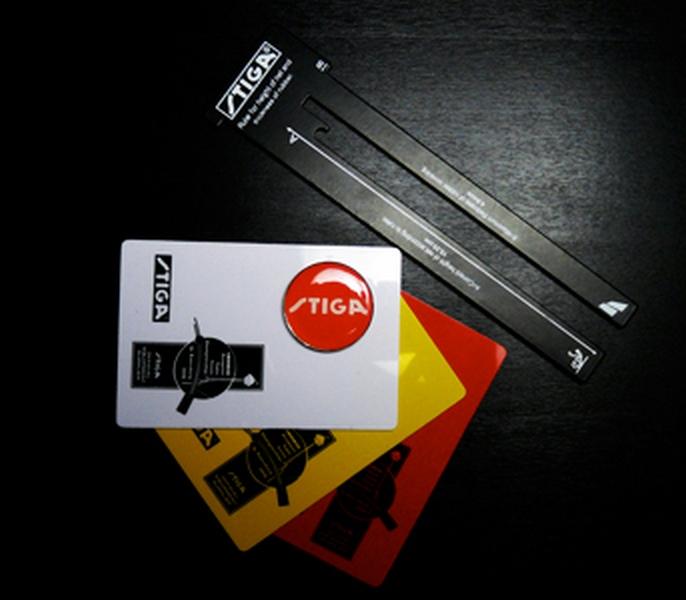 Набор судейский Stiga карточки 2х3, измеритель сетки, фишка stiga cygnus 2