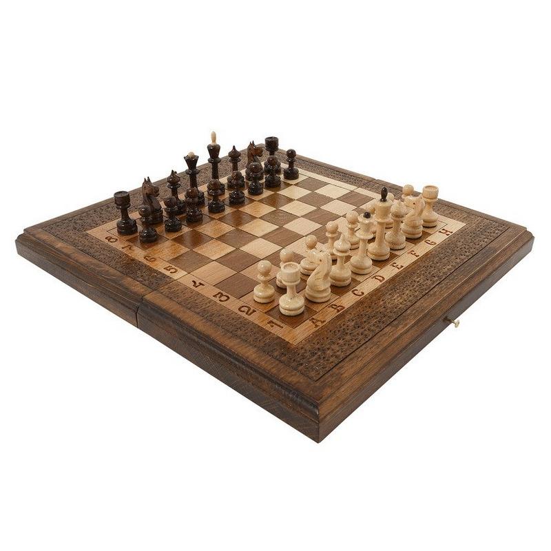 Шахматы + нарды Haleyan резные 50 шахматы нарды резные haleyan бриз 50