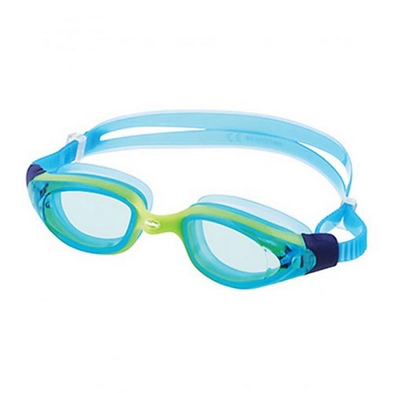 Купить Очки для плавания Fashy Primo 4185-59 голубые линзы, слатовая оправа,