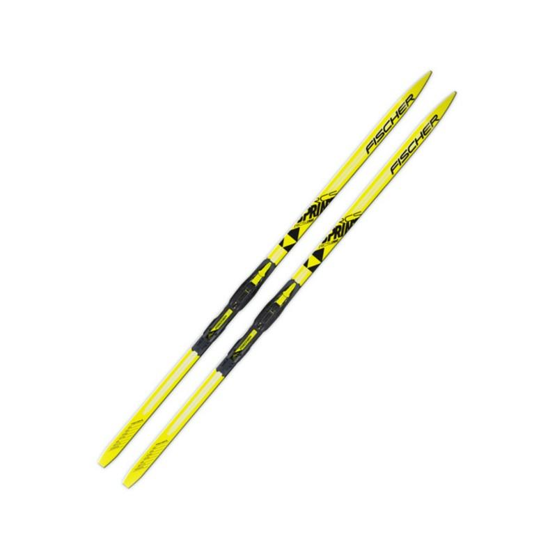 Лыжные комплекты Fischer Sprint Crown Yellow с креплениями NNN Step N63415