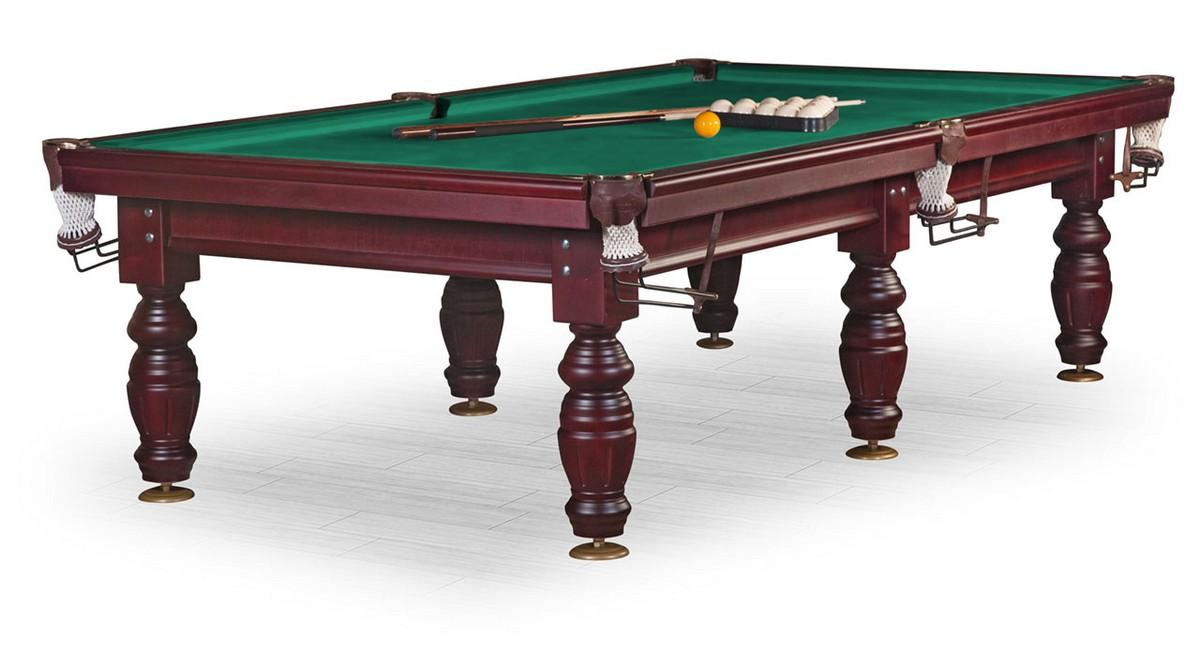 Бильярдный стол Дебют 10 ф, махагон, плита 38 мм, 6 ног KR10-38S