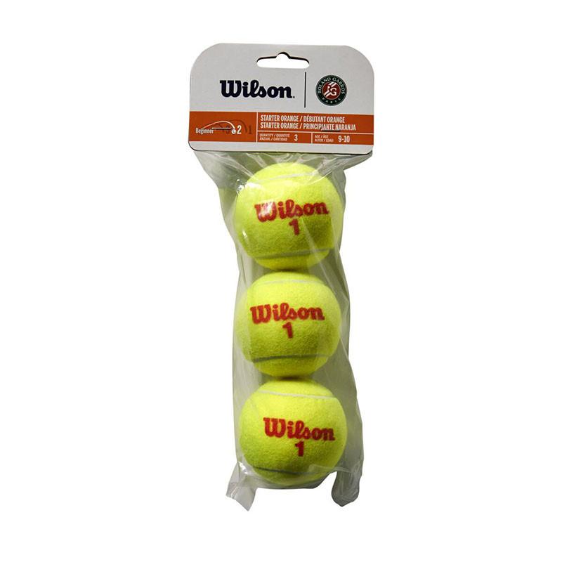 Мяч теннисный Wilson Roland Garros WRT147700, 3 мяча в упаковке, оранжевый