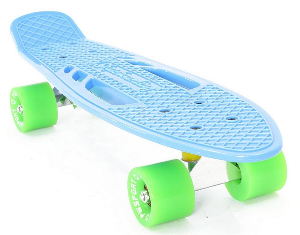 Скейтборд PWSport Fish 22 синий