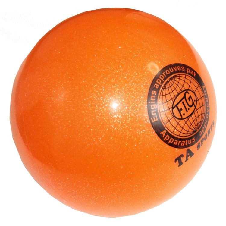 Купить Мяч для художественной гимнастики Indigo D=15 см (с блестками) золотой,