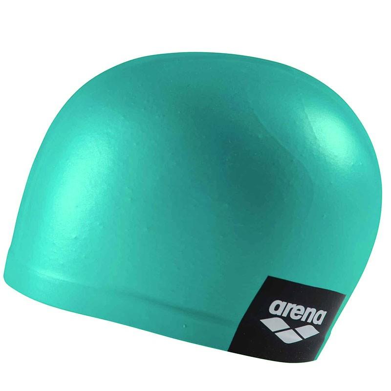 Купить Шапочка для плавания Arena Logo Moulded Cap 001912101-210, бирюзовый, силикон,
