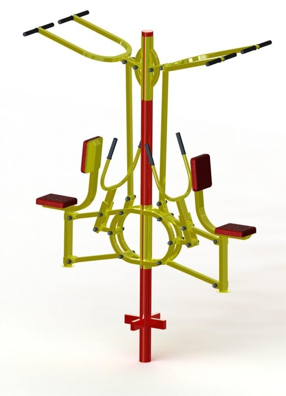 Купить Тяга вертикальная + тяга горизонтальная двойная ProfiGym ТУ-14, Уличные тренажеры для детей