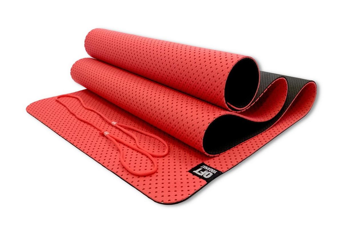 Мат для йоги Original Fit.Tools FT-YGM6-3DT-RED красный