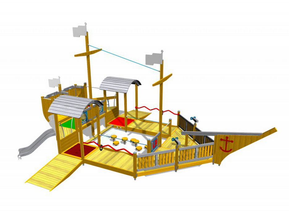 Купить Пандусный городок Hercules Фин-Корабль 32581,