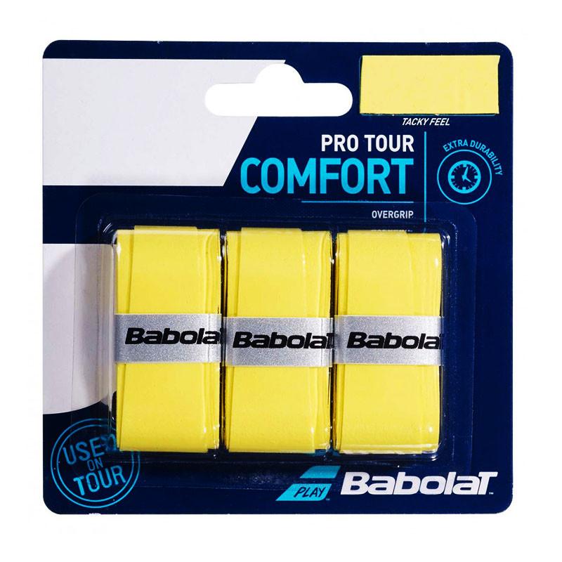 Овергрип Babolat Pro Tour X3 653037-113, 3 шт, желтый