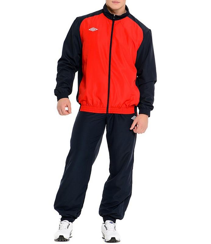 Костюм спортивный Umbro Uniform II Lined Suit мужской 463014 (291) красн/т.син/бел.
