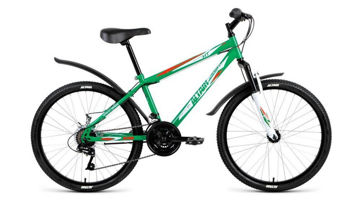 Подростковый велосипед Altair MTB HT 24 2.0 (2018) светло-зелёный