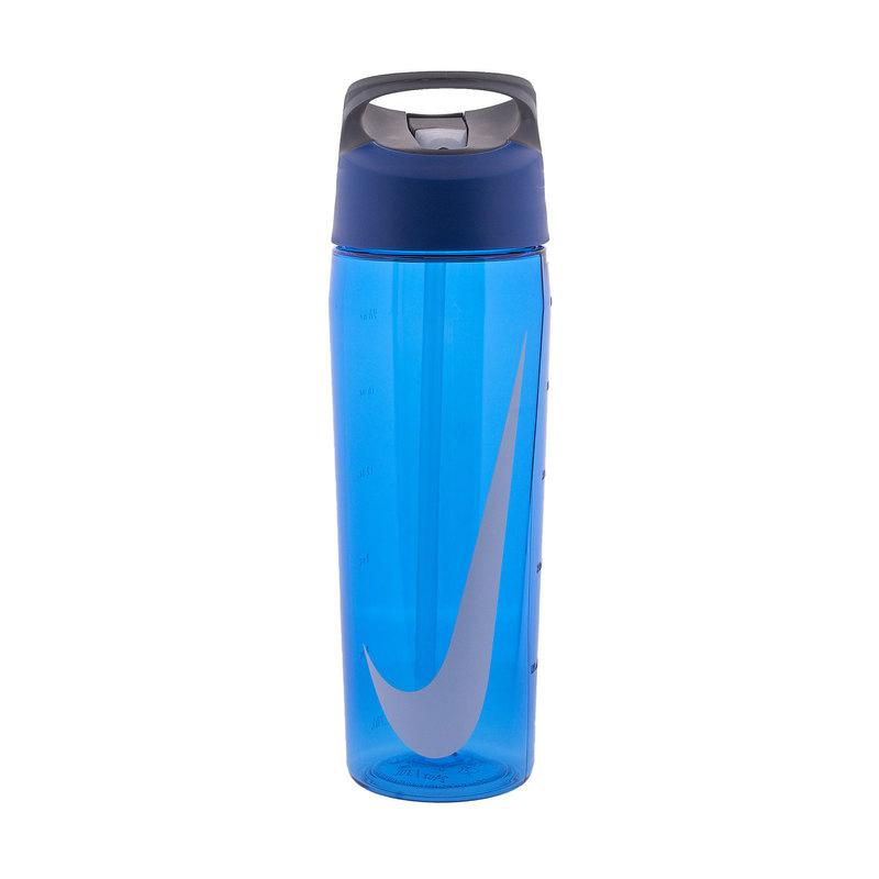 Купить Бутылка для воды Nike TR Hyperfuel Straw Bottle 24 OZ, N.OB.E3.445.24 синий, серый, белый,