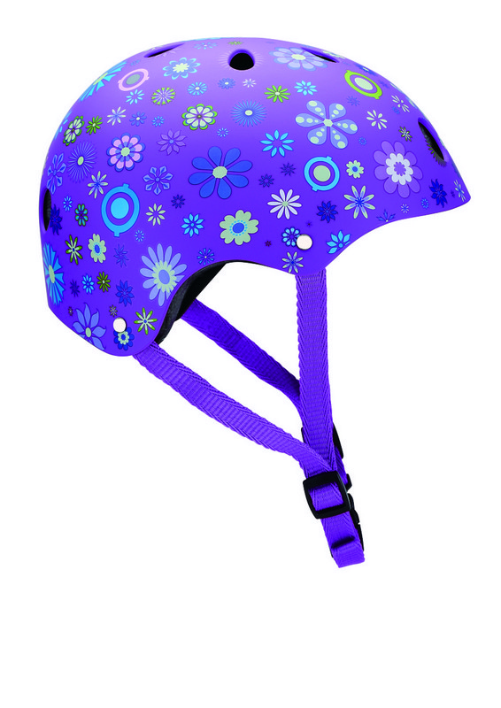 Шлем Globber Printed Helmet Junior Flowers purple