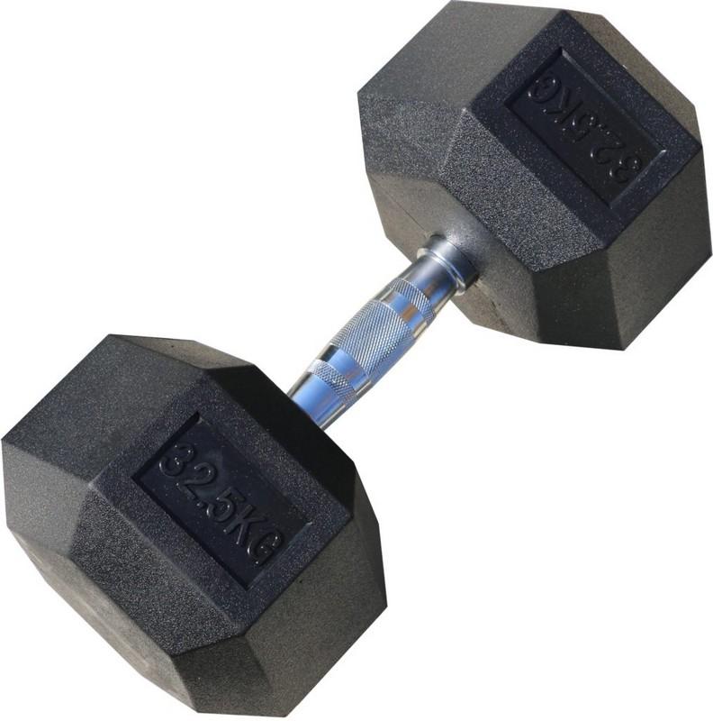 Гантель гексагональная обрезиненная Iron King 32,5 кг цена