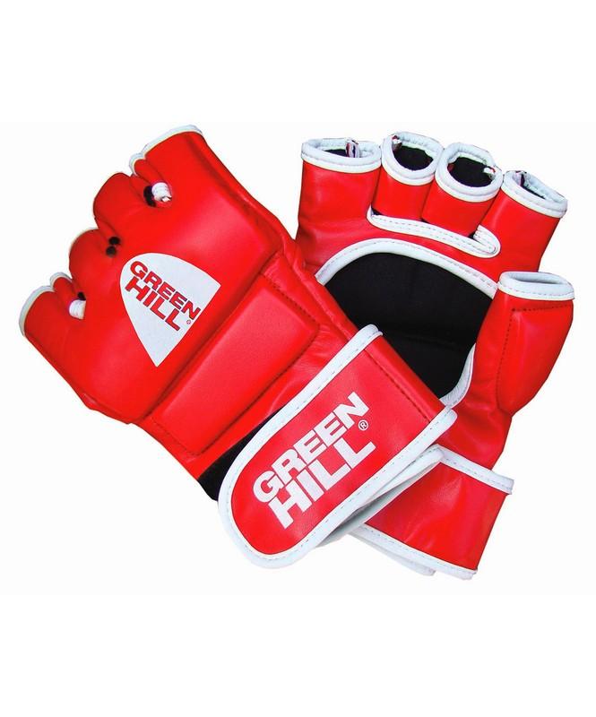 Перчатки для ММА Green Hill MMR-0027, к/з, красный