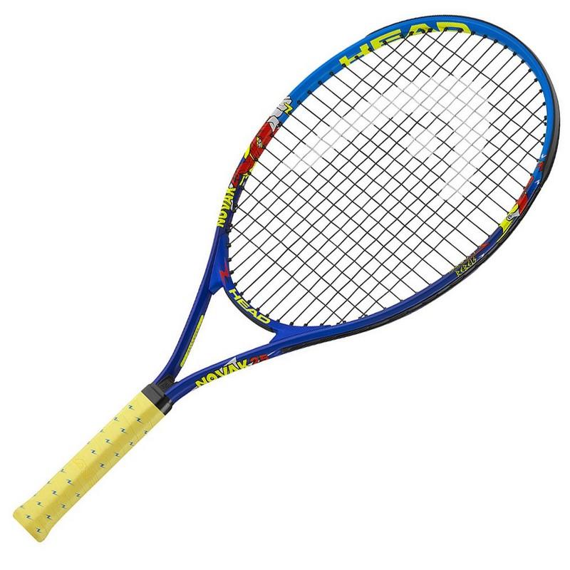 Ракетка для б/т Head Novak 21 Gr05, 233328 детская 4-6 лет со струнами, син/крас.,  - купить со скидкой