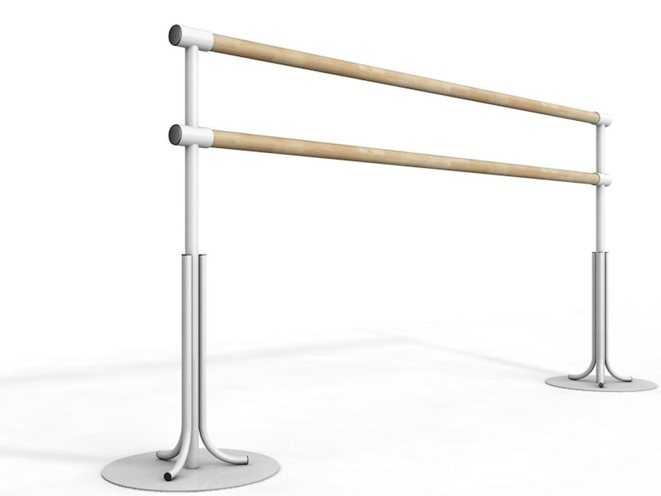 Купить Станок хореографический Atlet мобильный двурядный, с круглым основанием, поручень - сосна IMP-A447,