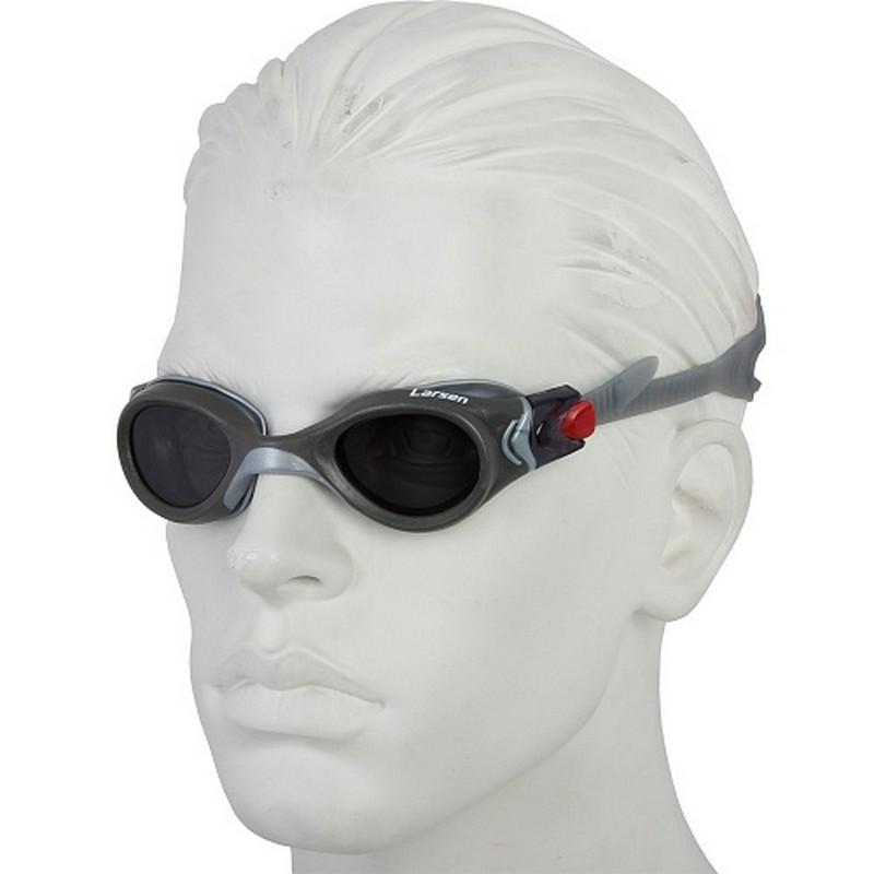 Очки плавательные Larsen S45P серебро очки плавательные детские larsen ds204