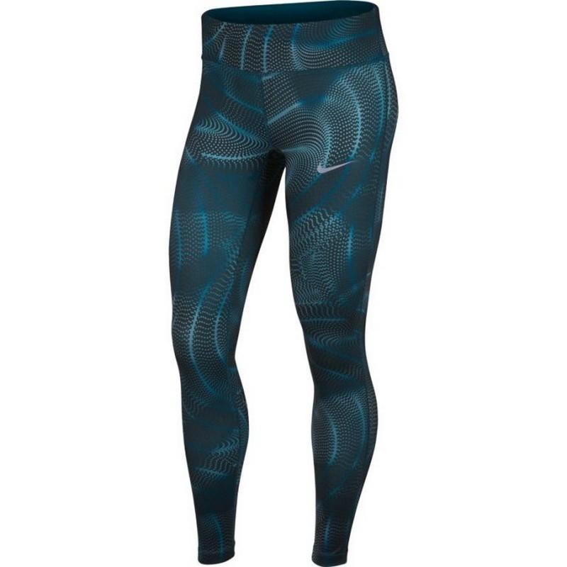 Тайтсы женские Nike Pwr Essntl Tght Pr W 890421-474 принт, синие тайтсы nike тайтсы w nk pwr tght racer cool