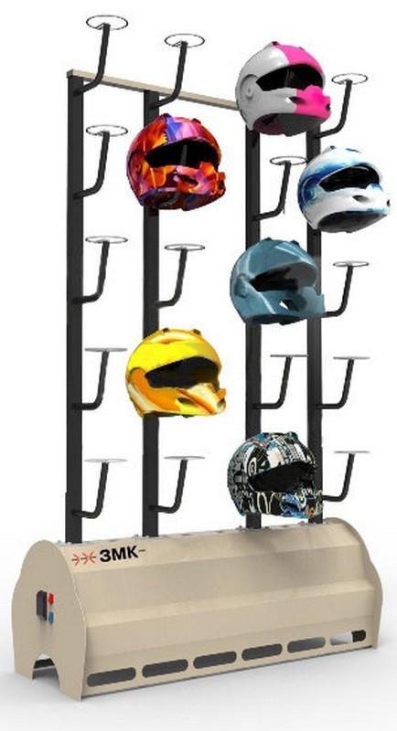 Сушильный стеллаж для шлемов ЗМК СЛ1 - Стандарт на 10 шт.