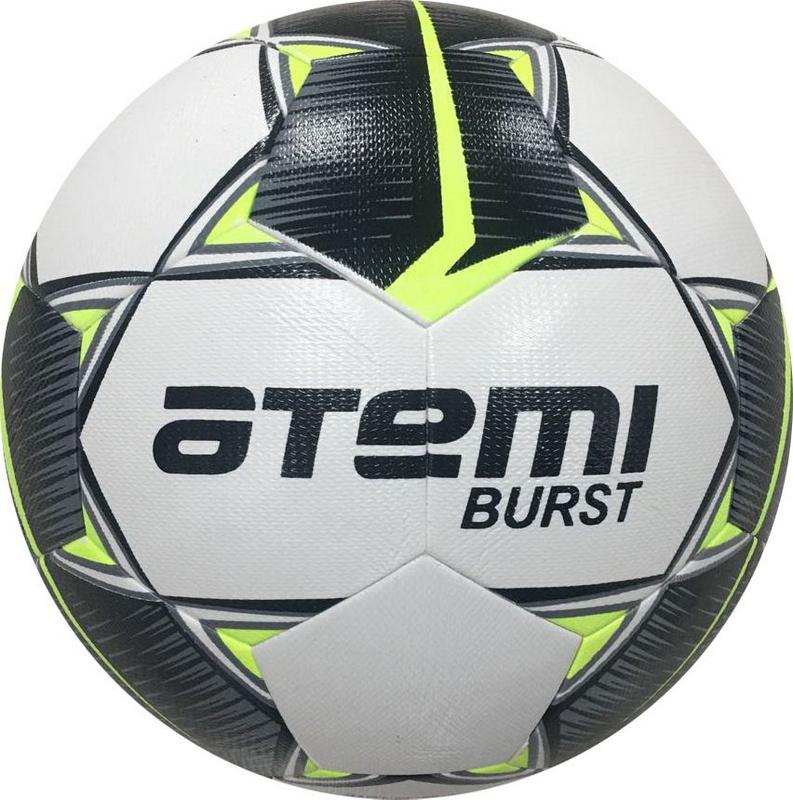 Купить Мяч футбольный Atemi Burst р. 5,белый/черн/желтый,