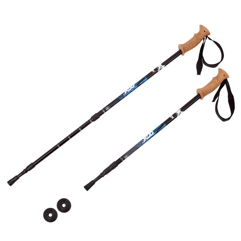 Купить Палки для треккинга RGX 3-секционные 65-135 см TFG-02 черный,