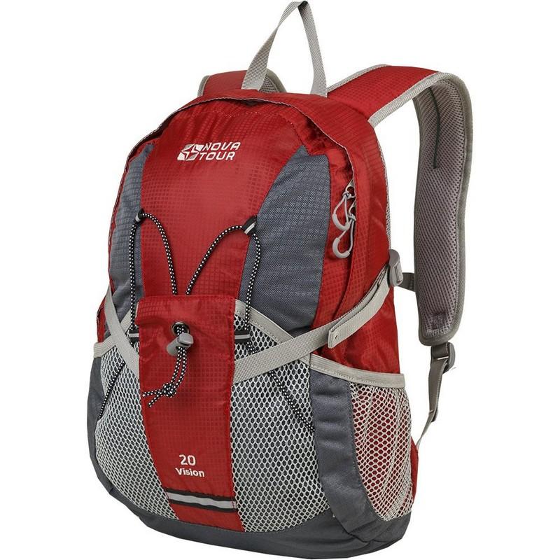 Рюкзак NovaTour Вижн 20 серый-красный