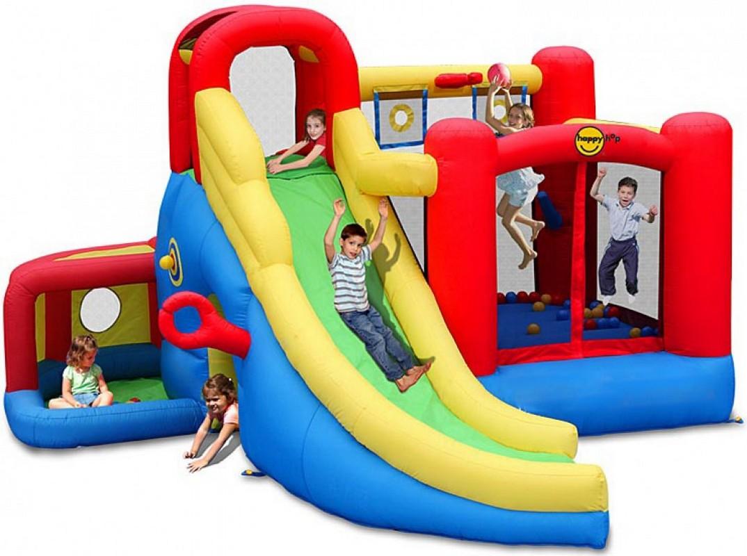 Детский надувной Батут Happy Hop Игровой Центр 11 в 1 9406